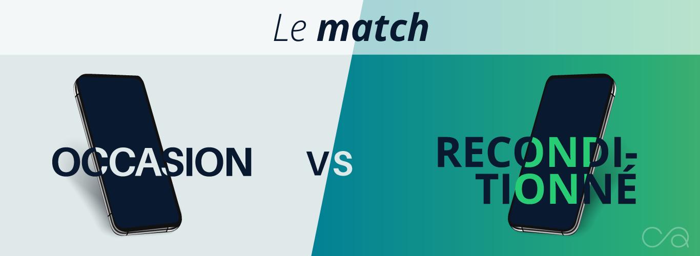 Le match : occasion versus reconditionné